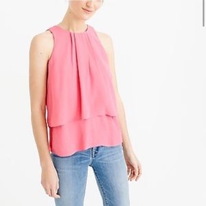 J. Crew salmon pink/ peach pink layered tank top